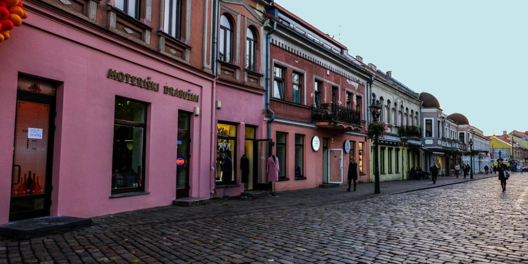 kaunas city colorful houses fb